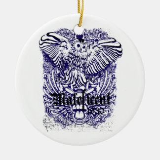 diseño afectado mafeficent del búho adorno redondo de cerámica