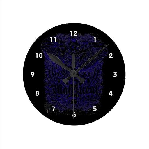 diseño afectado mafeficent del búho relojes