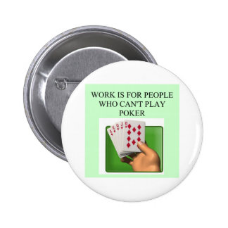 diseño afortunado del jugador de póker pin redondo de 2 pulgadas