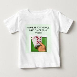 diseño afortunado del jugador de póker playera de bebé