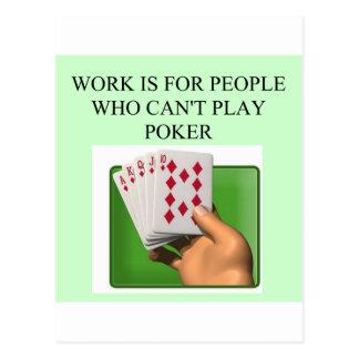 diseño afortunado del jugador de póker postal