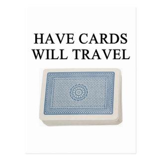 diseño afortunado del jugador de póker tarjetas postales