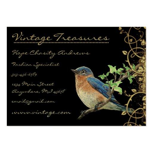 Diseño afortunado del remolino del Bluebird del Tarjetas De Visita Grandes