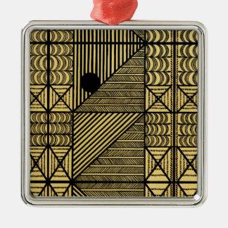 Diseño africano #12 @ Stylnic Adorno Navideño Cuadrado De Metal
