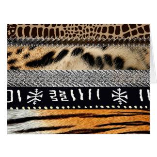 Diseño africano abstracto 2 de la tribu tarjeta de felicitación grande