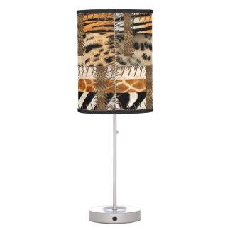 Diseño africano abstracto 3 de la tribu lámpara de mesilla de noche