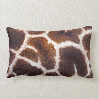 Diseño africano de la foto de la piel de la jirafa cojín