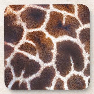 Diseño africano de la foto de la piel de la jirafa posavasos de bebida