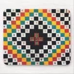 Diseño africano de la materia textil alfombrilla de ratón