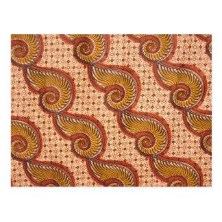 Diseño africano de la tela de Shell del caracol Postal