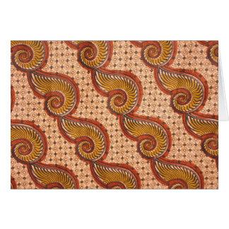 Diseño africano de la tela de Shell del caracol Tarjeta De Felicitación