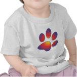 Diseño agradable de la impresión de la pata camiseta