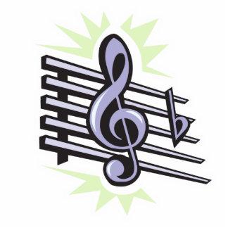 diseño agudo de la nota de la música de la hendidu adorno fotoescultura