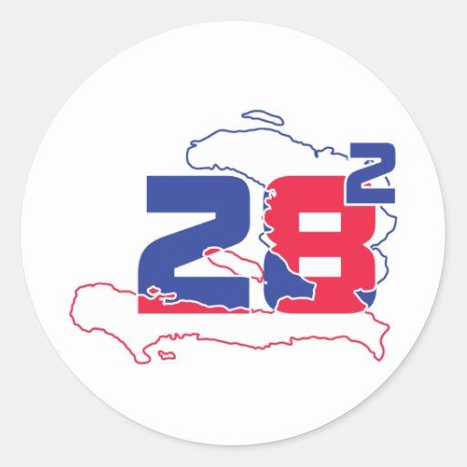 diseño ajustado 28 2 de la camiseta pegatina redonda