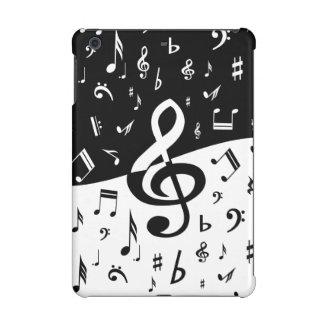 Diseño al azar elegante de las notas musicales en