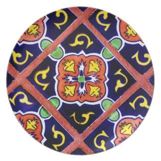 Diseño al sudoeste anaranjado quemado de la teja platos