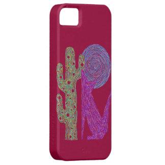 Diseño al sudoeste colorido del lobo púrpura del funda para iPhone SE/5/5s