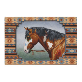 Diseño al sudoeste del caballo de guerra del Pinto Salvamanteles