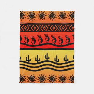 Diseño al sudoeste del desierto tribal azteca de manta de forro polar