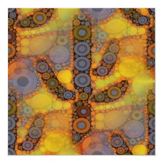 """Diseño al sudoeste del mosaico del cactus del invitación 5.25"""" x 5.25"""""""