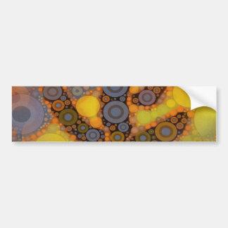 Diseño al sudoeste del mosaico del cactus del Sagu Etiqueta De Parachoque