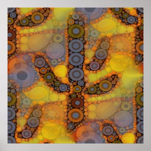 Diseño al sudoeste del mosaico del cactus del Sagu Impresiones