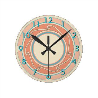 Diseño al sudoeste reloj redondo mediano