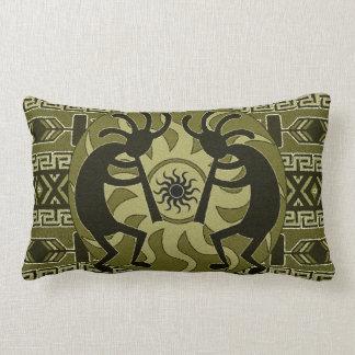 Diseño al sudoeste Sun tribal Kokopelli Cojin