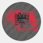 Diseño albanés fresco de la bandera etiquetas