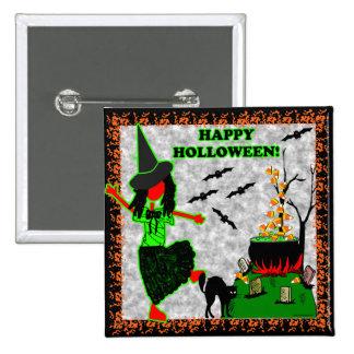 Diseño alegre del feliz Halloween Pins