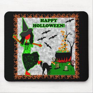 Diseño alegre del feliz Halloween Tapetes De Ratones