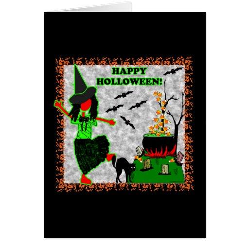 Diseño alegre del feliz Halloween Tarjeta De Felicitación