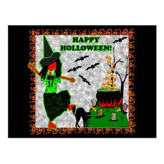 Diseño alegre del feliz Halloween Postales