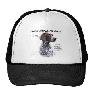 Diseño alemán de la historia del indicador de pelo gorras