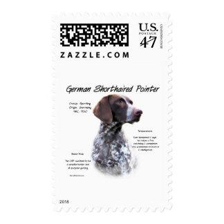 Diseño alemán de la historia del indicador de pelo sello postal