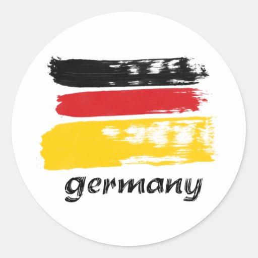 Diseño alemán del grunge de la bandera pegatina redonda