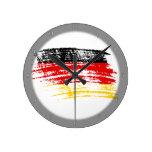 Diseño alemán fresco de la bandera reloj