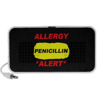 Diseño alerta de la alergia de la penicilina de la altavoces de viajar