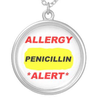 Diseño alerta de la alergia de la penicilina de la colgante redondo