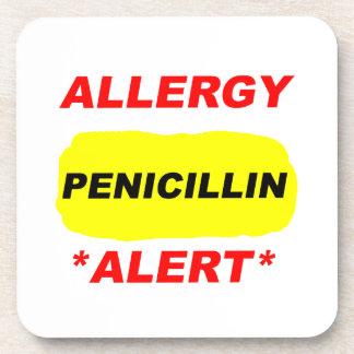 Diseño alerta de la alergia de la penicilina de la posavasos