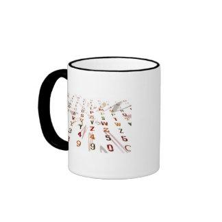 Diseño alfanumérico tazas