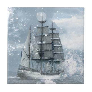 Diseño alto de la nieve del invierno del vintage d azulejo cuadrado pequeño
