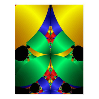 Diseño amarillo azulverde colorido del arte del tarjetas postales
