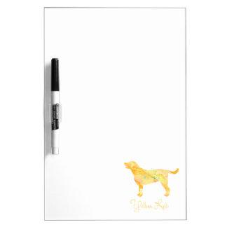 Diseño amarillo de la acuarela del laboratorio tableros blancos