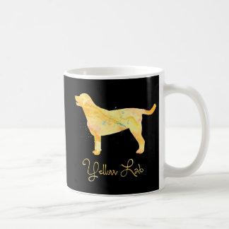 Diseño amarillo de la acuarela del laboratorio taza de café
