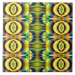 Diseño amarillo de los círculos de la MOD Teja Ceramica