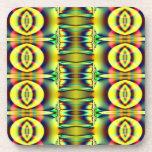 Diseño amarillo de los círculos de la MOD Posavaso