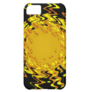 Diseño amarillo del arte de la onda funda iPhone 5C