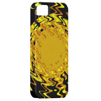 Diseño amarillo del arte de la onda funda para iPhone SE/5/5s