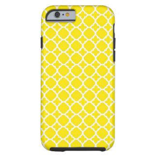 Diseño amarillo del enrejado funda de iPhone 6 tough